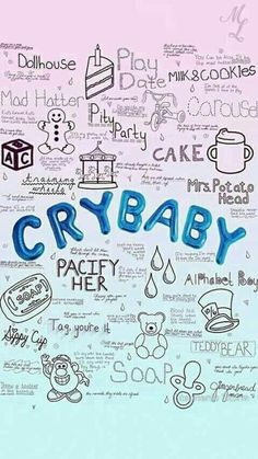 melanie martinez, cry baby, and wallpaper image Melanie Martinez Quotes, Melanie Martinez Drawings, Crybaby Melanie Martinez, Melanie Martinez Mad Hatter, Halsey, Pity Party, She Song, Crazy People, Cute Wallpapers