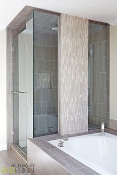 Master Bathroom with unique shower enclosure