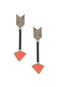 Rhinestone Arrow Earrings  $28  getting ready for fall fashion and these r priority on my list