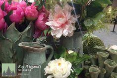 Spring Decor...from silks to beautiful jars.