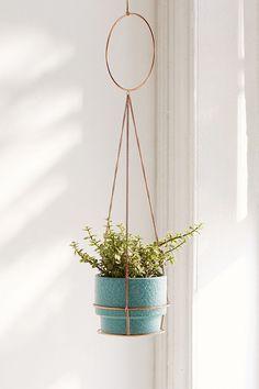 Slide View: 1: Metal Circle Hanging Planter