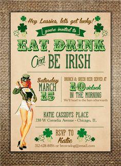 Irish Theme Hen Party Invitation #henpartyinvitation #bachelorettepartyideas #irishtheme