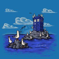 The Seagulls Have the Phonebox by khallion.deviantart.com on @deviantART