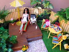 Barbie chillin in her backyard - photo by Debby Emerson