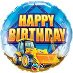 Foil Balloons 18 Birthday Construction Zone Suitable for helium inflation only please see our range of disposable