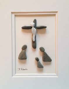 Praying at the Foot of the Cross Pebble Art - Luke 19:40 (KJV) And he answered and said unto them, I tell you that, if these should hold their peace, the stones would immediately cry out.