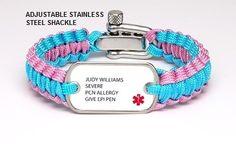 Custom Light Duty Survival Bracelet (Two Color) - Custom Print - Hope Paige