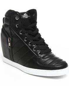 Love this Planey Zipper Trim Wedge Sneaker by Apple Bottoms on DrJays. Take a look and get 20% off your next order!