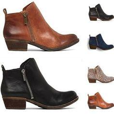 Damen Ankle Blockabsatz Stiefeletten Flache Chelsea Spitze Stiefel Schuhe Neu