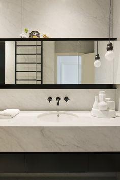Gallery of Inspiration - Astra Walker Light and taps Bathroom Inspiration, Bathroom Faucets, Wall Mount Faucet Bathroom, Upstairs Bathrooms, Monochrome Bathroom, Bathroom Corner Basins, Kitchens Bathrooms, Bathroom Renovations, Bathroom Design
