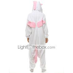 volwassen roze eenhoorn onesie fleece pyjama cartoon nachtkleding dier halloween kostuum unisex 2016 – €40.17