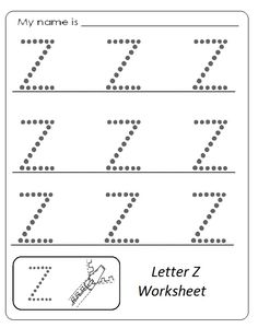Letter Z pattern. Use the printable outline for crafts