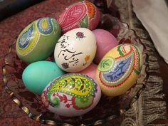 Persian New Year Beautiful Decorated Eggs