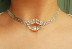 925 Sterling Silver Chain Locking Celtic Knot Claddagh BDSM Slave Bondage  Day Collar (NC0091) by ToBeHis on Etsy https://www.etsy.com/listing/244524800/925-sterling-silver-chain-locking-celtic