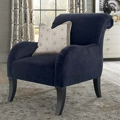 Accent Chair in navy by #bassettfurniture
