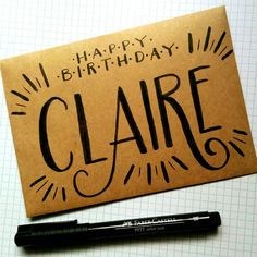 "Jess Matthews on Instagram: ""Something unique for someone special. Damn I love making #custom pieces! #design #lettering #typography #birthday"""