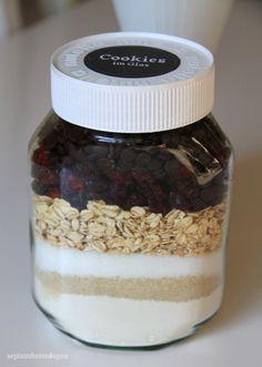 Cookie Backmischung im Glas - Schoko-Cranberry-Cookies