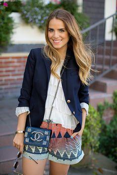 Julia Engel Gal Meets Glam Style - Navy Blazer