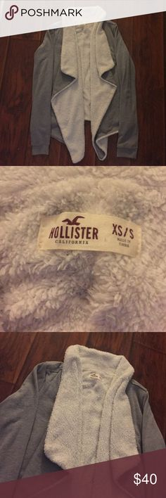 Hollister Cardigan fleece inside ❤️ Hollister cardigan with fleece inside, worn once and washed. Hollister Sweaters Cardigans