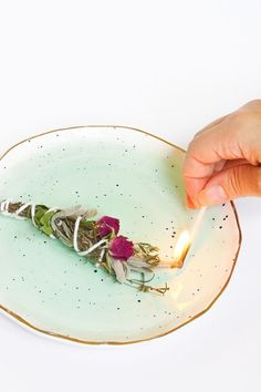 DIY Fresh Floral and Herbal Incense Bundles by Ashley Rose of Sugar & Cloth, a top lifestyle blog in Houston, Texas #diy #modern #homedecor #decor #easydiy