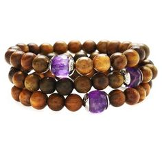 Sandalwood and Amethyst Bracelet. This delicately scented sandalwood and amethyst bracelet benefits women survivors of war and civil strife around the world through Women For Women International.