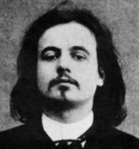 Alfred Jarry was a French writer.   Best known for his play Ubu Roi (1896), which is often cited as a forerunner to the surrealist theatre of the 1920s and 1930s, Jarry wrote in a variety of genres and styles. He wrote plays, novels, poetry, essays and speculative journalism. His texts present some pioneering work in the field of absurdist literature. Sometimes grotesque or misunderstood, he invented a pseudoscience called 'Pataphysics.