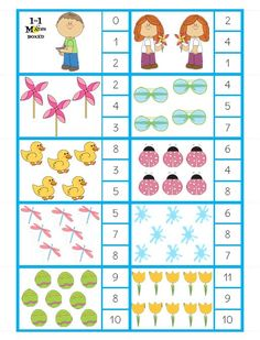 1 to 1 Maths Boxed Printable Preschool Worksheets, Alphabet Worksheets, Preschool Math, Kindergarten Worksheets, Teaching Numbers, Math Centers, Pre School, Toddler Activities, Mathematics