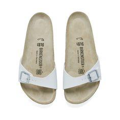 Birkenstock Women's Madrid Single Strap Sandals - White (936.770 IDR) ❤ liked on Polyvore
