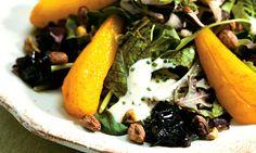 Salada de pera, shiitake e alho-poró ao vapor.  Receita complexa, mas interessante. requer muitas etapas e ingredientes nao usuais.
