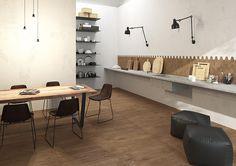 Kitchen_Herberia_Natural Wood floortile and walltile Oak,15x90. Cucina_Herberia_Natural Wood pavimento e rivestimento Oak,15x90.