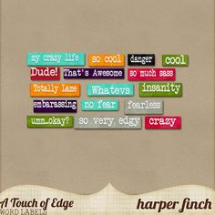 A Touch of Edge Word Bits by Harper Finch by harperfinch.deviantart.com on @deviantART