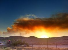 Forest fire in Arizona.