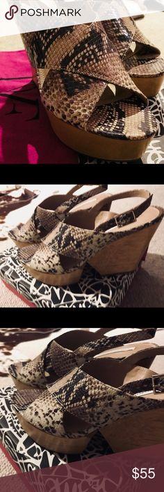 Diane Von Furstenberg Liberty Wedge Sandals 9.5 Brand new with box and dust bag. Diane Von Furstenberg Shoes Sandals