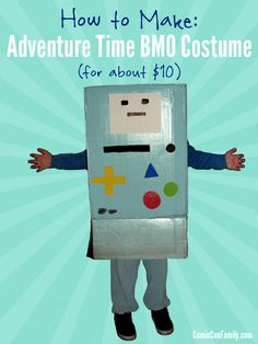 How to Make an Adventure Time BMO Costume (for about $10) #halloween #costumes #cosplay