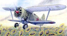 Soviet Polikarpov I-153 Chaika (Seagull) Biplane Fighter Free Aircraft Paper…