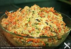 Quinoa salad with carrot and zucchini, a popular recipe from the Sch . - Quinoa salad with carrot and zucchini, a popular recipe from the category quick and easy. Seafood Recipes, Mexican Food Recipes, Grilling Recipes, Vegan Recipes, Cooking Recipes, Ethnic Recipes, Quinoa Zucchini, Quinoa Salat, Seafood Salad