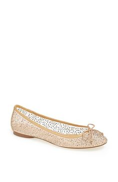 Adrianna Papell 'Selina' Flat (Online Only) available at Starry crystals sparkle on an elegant leather ballet flat. Pretty Shoes, Cute Shoes, Awesome Shoes, Bridal Shower Attire, Ballerina Pumps, Ballerinas, Wedding Flats, Leather Ballet Flats, Bags