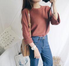 korean fashion style in 2019 moda coreana, ropa Korean Fashion Fall, Korean Fashion Trends, Korea Fashion, Japanese Fashion, Look Fashion, Trendy Fashion, Girl Fashion, Fashion Design, Fashion Art