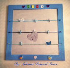 Cadre photo pele mele on pinterest cadre photo frames - Cadre photo avec pince linge ...