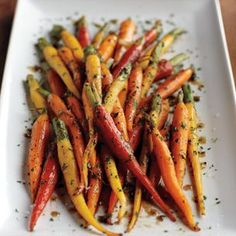 Glazed Carrots. Multi-colored carrots make this a beautifully simple side.