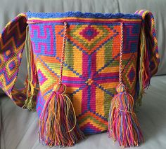 Wayuu Bag Mochila Hand Woven - Ship Worldwide #343