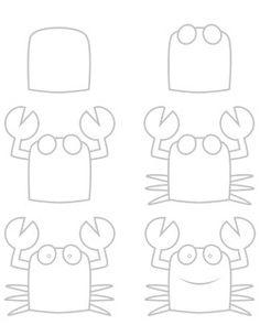 krab tekenen met kleuters / ... a crab