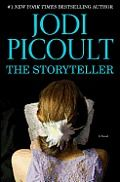 The Storyteller by Jodi Picoult:  On the second Thursday of the month, Mrs. Dombrowski brings her dead husband to our therapy group. Its just past 3:00 p.m., and most of us are still filling our paper cups with bad coffee. Ive brought a plate of baked goods#8212;last week, Stuart...