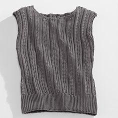 Modell 181/3, Top aus Cotton-Superfine II von Junghans-Wolle « Tops & Pullunder « Damenmodelle « Strickmodelle Junghans-Wolle « Stricken & Häkeln im Junghans-Wolle Creativ-Shop kaufen