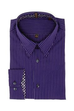Ben Sherman Dark Purple Pinstripe Shirt