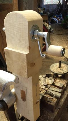 pole lathe poppet, not mine but I love the look of it, will post with maker once I remember/find out