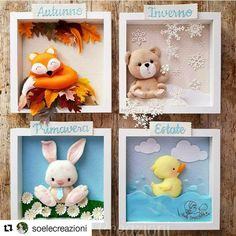 Baby Mobile Felt, Felt Baby, Clay Crafts, Diy And Crafts, Crafts For Kids, Juegos Baby Shower Niño, Picture Frame Crafts, Felt Crafts Patterns, Felt Wreath