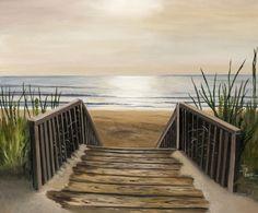 ღღ  The Beach Painting - The Beach Fine Art Print - Toni Thorne