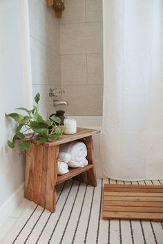 home decor minimal white natural // bathroom decor inspo - Bathroom Ideas Cute Dorm Rooms, Cool Rooms, Cozy Apartment Decor, Minimal Apartment Decor, Bath Stool, Bathroom Stools, Natural Bathroom, Earthy Bathroom, Boho Bathroom