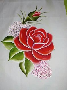 Pinturas Tole Painting, Fabric Painting, Fabric Paint Designs, Hand Painted Dress, Copics, Flower Art, Watercolor Art, Embroidery Designs, Art Drawings